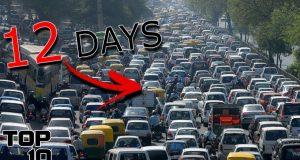 Top 10 Longest Traffic Jams In History 2